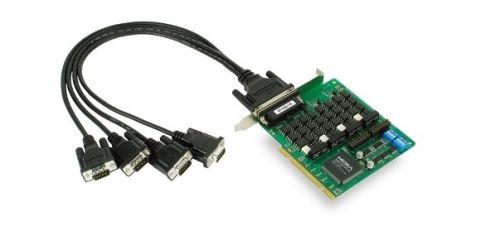 Плата MOXA CP-134U-I-T 4port RS-422/485 Isolation, Universal PCI bus,surge protec 16KV,w/o cable, 921.6Kbps плата moxa cp 134el a i w o cable 4 port pcie board w o cable low profile rs 422 485 w surge w isolation