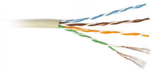 Кабель витая пара U/UTP 6 кат. 4 пары Lanmaster LAN-6EUTP-PT-GY ,550Mhz,PVC,серый,(305м) кабель lanmaster ftp кат 6 305м серый lan 6eftp pt gy