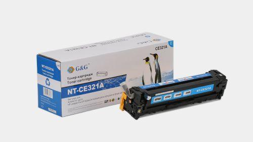 Тонер-картридж голубой G&G NT-CE321A для HP LaserJet Pro CP1525N/NW, CM1415FN/FNW