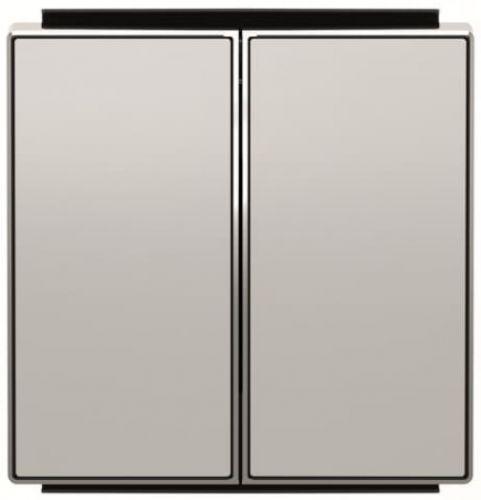 Панель лицевая ABB 2CLA851100A1301 для 2-клавишных выключателей/переключателей/кнопок, серебристый алюминий