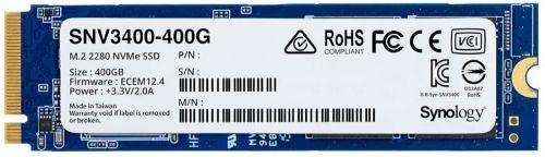 Накопитель SSD M.2 2280 Synology SNV3000 SNV3400-400G 400GB, R3100/W550 Mb/s, IOPS 205K/40K, MTBF 1,8M