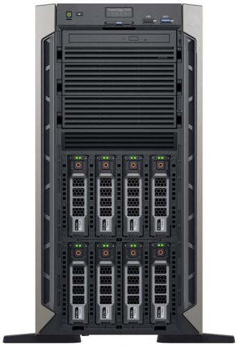 Фото - Сервер Dell PowerEdge T440 210-AMEI-21 2x5215 2x16GB x8 1x1Tb 7.2K 3.5 SATA RW H330 FH iD9En 1G 2P 2x495W 40M NBD сервер dell poweredge r340 1xe 2174g 1x16gbud x8 1x1 2tb 10k 2 5 sas rw h330 id9ex 1g 2p 1x350w 3y