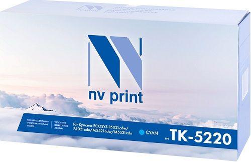 Картридж NVP NV-TK5220C для Kyocera ECOSYS P5021cdw/P5021cdn/M5521cdw/M5521cdn, 1200k, синий