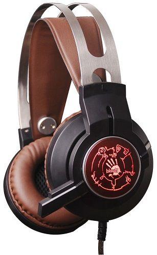 Гарнитура A4Tech G430 черный/коричневый, 2.2м, мониторы, оголовье