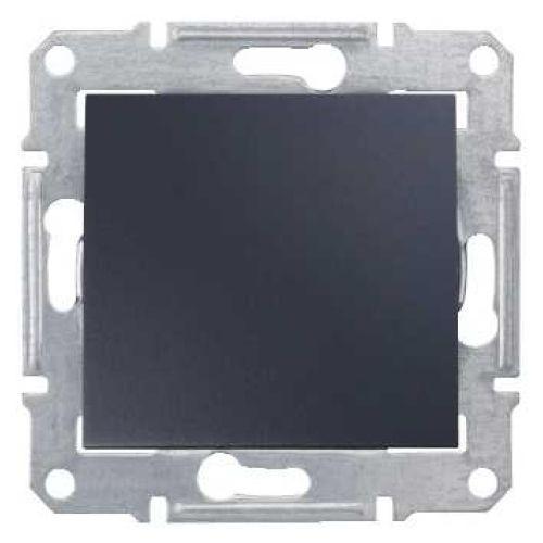 Фото - Выключатель Schneider Electric SDN0100370 Sedna 1-клавишный 10A, 250В, IP44 (сх.1) (графит) выключатель schneider electric nu520118 unicanew белый 1 клавишный сх 1 10 ax 250в