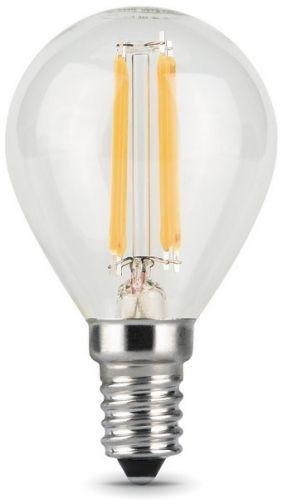 Фото - Лампа светодиодная Gauss 105801207 LED Filament Шар E14 7W 580lm 4100K лампочка gauss e27 шар dim 7w 590lm 4100k 105102207 d