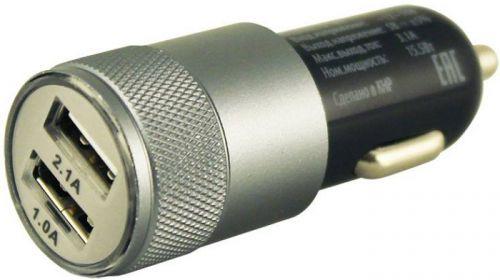 Зарядное устройство автомобильное Buro TJ-189 2.1A+1A, универсальное, черное