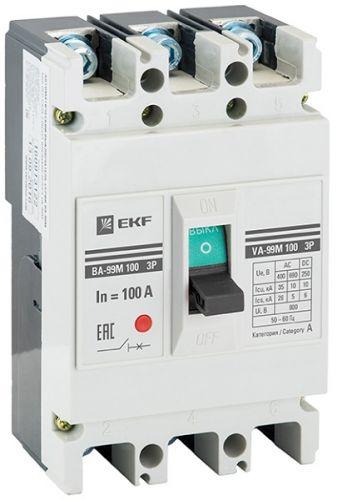Автоматический выключатель EKF mccb99-100-100m 3п ВА-99М 100/100А 20кА Basic