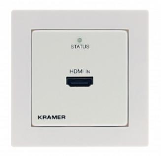 Передатчик Kramer WP-871XR/EU-80/86(W) 50-805160590 HDMI по витой паре DGKat, поддержка 4К60 4:4:4, PoC, цвет белый