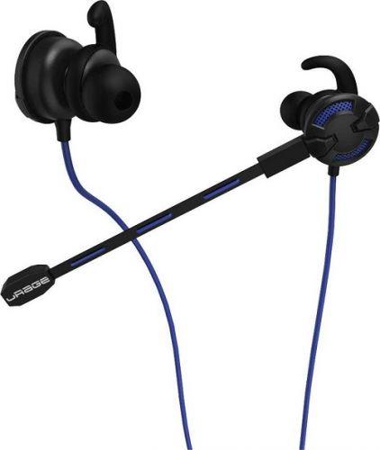 Наушники HAMA uRage ChatZ 00113783 вкладыши, 1.6м, в ушной раковине, черный/синий наушники sony mdr zx310ap синий