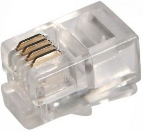 Коннектор 5bites US010A RJ-11,4P4C,100шт коннектор rj 12 6p4c 100шт proconnect 05 1012 3