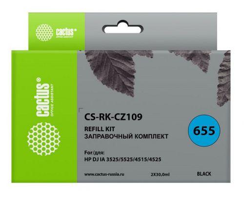 Заправочный комплект Cactus CS-RK-CZ109 черный (2x30мл) HP DJ IA 3525/5525/4515/4525