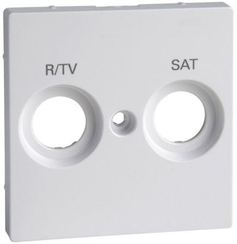 Накладка Schneider Electric MTN299825 Merten SM розетки TV-FM/TV-FM-SAT с маркировкой, актив белый