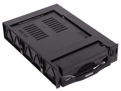 Фото - Салазки AgeStar SR3P(S)-1F пластиковые для 3,5 HDD с интерфейсом SATA II салазки kingston для 3 5 отсека для hdd 2 5 sna br2 35