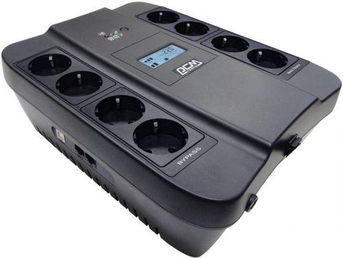 Источник бесперебойного питания Powercom SPD-550U LCD SPIDER, Интерактивная, 550 ВА / 330 Вт, Tower, Schuko, LCD, Serial+USB, USB  - купить со скидкой