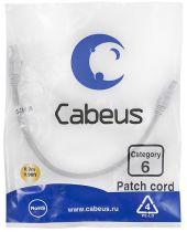 Cabeus PC-UTP-RJ45-Cat.6-0.3m-WH
