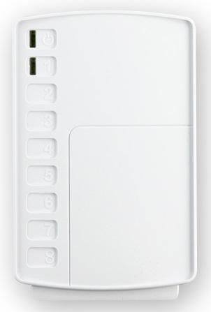 Модуль ТЕКО Астра-824 реле, 8 релейных выходов с контактами на размыкание, коммутируемое напряжение 100 В, коммутируемый ток 100 мА