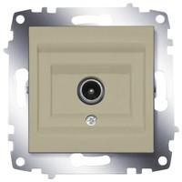 Розетка ABB 619-011400-273 Cosmo оконечная TV с экранированием 50В, IP20 (титаниум)