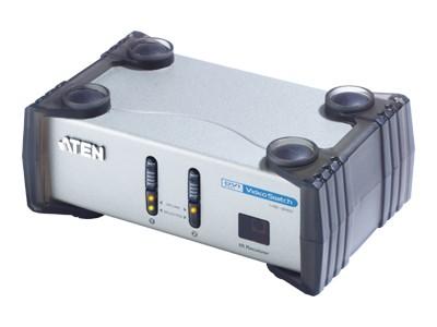 Переключатель KVM Aten CS261-AT-G видео + аудио DVI видео RCA ауд, 2 вх. на 1 вых., пульт ДУ, 1600×1200/60