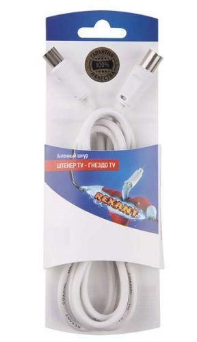 Шнур Rexant 06-3081 шт. TV - гн. TV 3М, белый