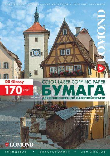 Фотобумага Lomond 0310241 Двухсторонняя Глянцевая, для лазерной печати, 170 г/м2, A4/250л.