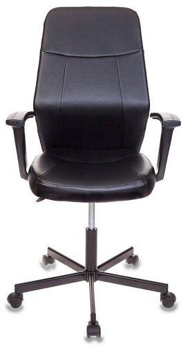 Кресло Бюрократ CH-605 черное, искусственная кожа, крестовина металл