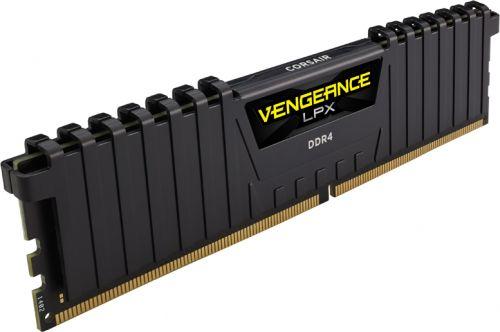 Модуль памяти DDR4 16GB Corsair CMK16GX4M1A2400C14 Vengeance LPX Black PC4-19200 2400MHz CL14 1.2V Радиатор RTL модуль памяти corsair vengeance lpx ddr4 dimm 2400mhz pc4 19200 cl14 16gb kit 2x8gb cmk16gx4m2a2400c14