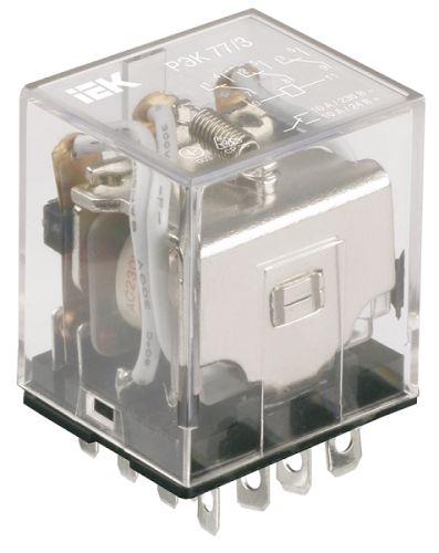 Реле IEK RRP20-4-03-012A промежуточное 12В переменного тока 4пк 3А РЭК78/4 без розетки