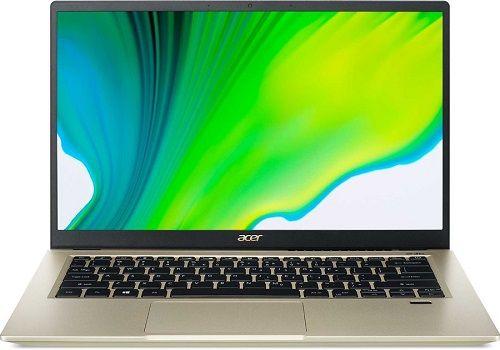 Фото - Ноутбук Acer Swift 3 SF314-510G-50HM NX.A10ER.009 i5 1135G7/8GB/SSD 512GB/Iris graphics DG1 4GB/14 IPS/FHD/Win10Home/gold/WiFi/BT/Cam ноутбук hp 17 cd1049ur 22q89ea i5 10300h 16gb 512gb ssd gtx1650 4gb 17 3 fhd ips bt cam free dos