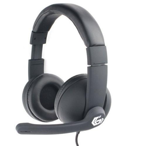 Гарнитура Gembird MHS-G220 игровая, черный, soft touch, код Printbar, регулировка громкости, каб 2м