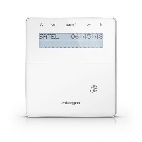 Клавиатура SATEL INT-KWRL-WSW беспроводная ЖКИ для ПКП серии INTEGRA, считыватель проксимити карт и бесконтактных ключей, полностью беспроводная связь