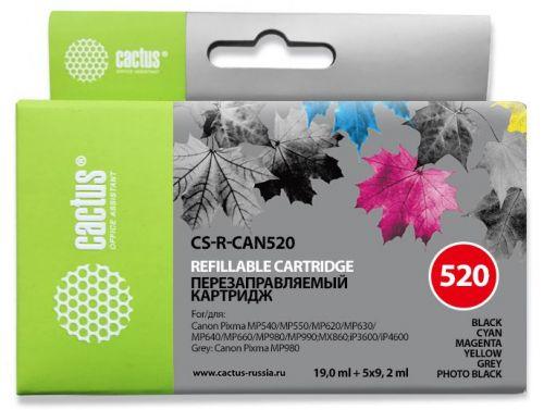 Картридж Cactus CS-R-CAN520 многоцветный65.6мл для Canon Pixma MP540/MP5