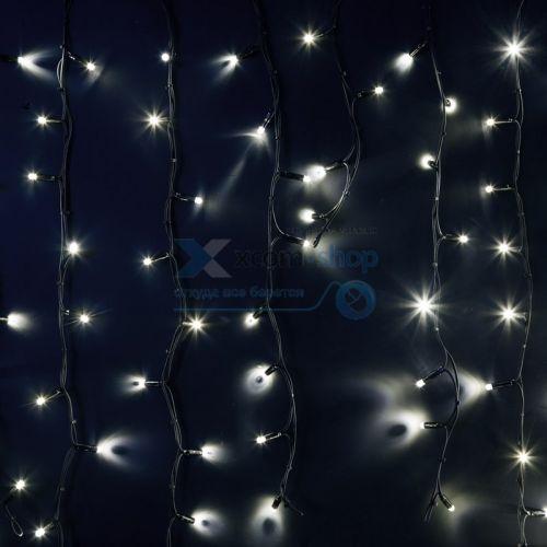 Фото - Гирлянда NEON-NIGHT 255-295 айсикл (бахрома) светодиодный, 6,0 х 1,5 м, черный провод каучук, 230 В, диоды белые, 240 LED гирлянда neon night бахрома айсикл 255 245 560х90 см 240 ламп белый черный провод