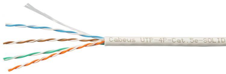 Cabeus UTP-4P-Cat.5e-SOLID-GY