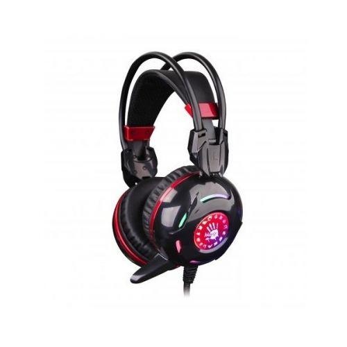 Гарнитура A4Tech Bloody G300 черный/красный, USB/2 x mini jack 3.5 mm, 1.8м 319663