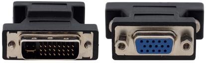 Переходник Kramer DVI-I - VGA 99-9492001 с разъема DVI-I 29 pin (вилка) на разъем D-sub HD15 (розетка) AD-DM/GF kramer ad df hm переходник dvi розетка на hdmi вилка