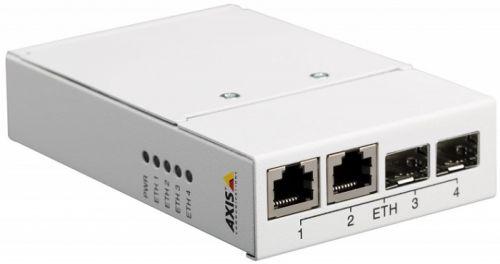 Медиа-конвертер Axis T8606 MEDIA CONV SWITCH 24VDC 5901-261 четырехпортовый с 2 портами RJ45 и SFP слотами. Крепление настольное или на DIN-рейку. О