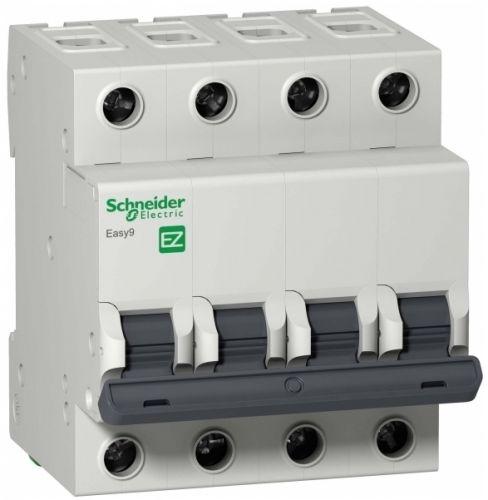 Автоматический выключатель Schneider Electric EZ9F14425 EASY 9 4P 25A (B) автоматический выключатель schneider electric ez9f34416 easy 9 4p 16a c
