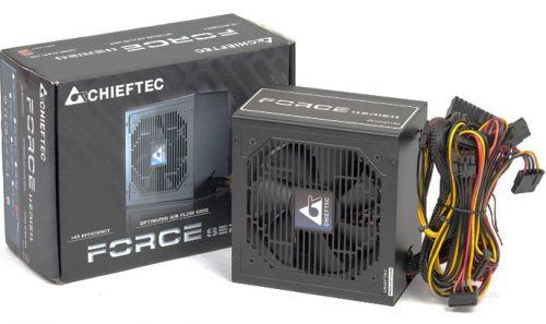 Блок питания ATX Chieftec CPS-500S 500W aPFC, 120mm FAN, КПД 80+, Ret