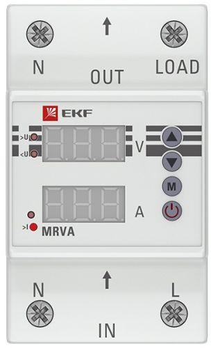 Реле EKF MRVA-63A напряжения и тока с дисплеем MRVA 63А PROxima