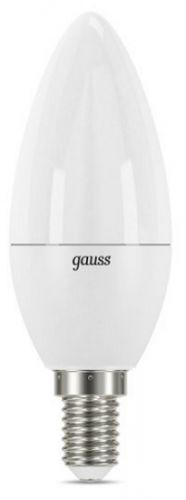 Фото - Лампа светодиодная Gauss 103101207-D LED 7вт, 230в, Е14, белый, dim, свеча лампа светодиодная 7вт 230в e14 filament теплый свеча gauss