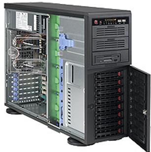 "Supermicro Корпус серверный 4U Supermicro CSE-743TQ-865B (8x3.5"" HS bays, 4xSAS/SATA port, 2x5.25"", 1x 3.5"" ext, 12""x13"" E-ATX, 7xFH, 865W Quiet 28dB)"