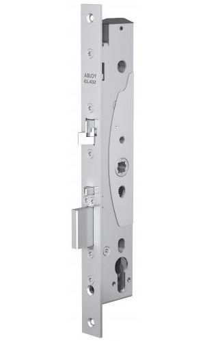 Замок Abloy EL432 врезной моторный, со встроенным блоком управления для профильных дверей, стандарт DIN, контроль доступа с двух сторон, выход по ручк