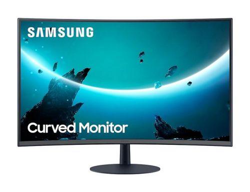 Монитор 32 Samsung C32T550FDI 1920x1080, 4 ms, 250 cd/m, 3000:1, 178°/178°, VA, HDMI 1.4, DisplayPort 1.2, VGA (D-Sub), аудио стерео, SPK монитор 24 asus va24dq 1920x1080 5 ms 250 cd m 100000000 1 178° 178° ips hdmi 1 4 displayport 1 2 vga аудио стерео spk