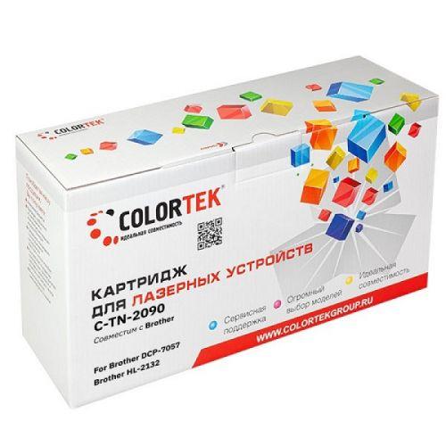 Картридж Colortek CT-TN2090 для принтеров Brother DCP-7057, HL-2132, черный, 1000 стр. лазерный картридж brother tn 2090 для hl 2132 dcp 7057 1000стр