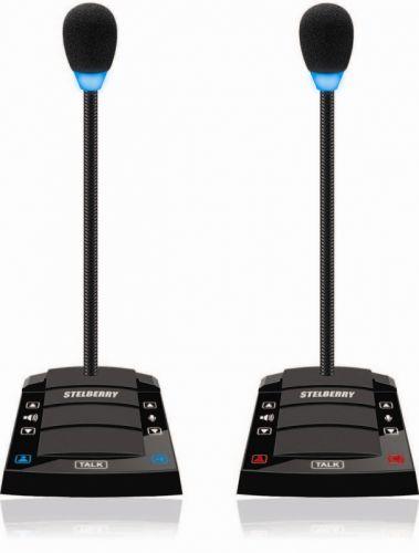 Переговорное устройство Stelberry D-700 директор-секретарь, черные корпуса, улучшенный аудио.