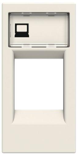 Накладка ABB 2CLA211810N1101 телефон/комп розетки (для суп.2017.2,2017.3,2018,2018.5,2018.6,2018.8) белая