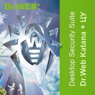 Dr.Web Desktop Security Suite (Dr.Web Katana), ЦУ, 186 ПК, 1 год