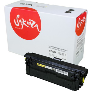 Картридж Sakura SACF362A для HP Color LaserJet Enterprise M553n/553X/553dn HP Color LaserJet Enterprise M552dn, желтый, 5000к.