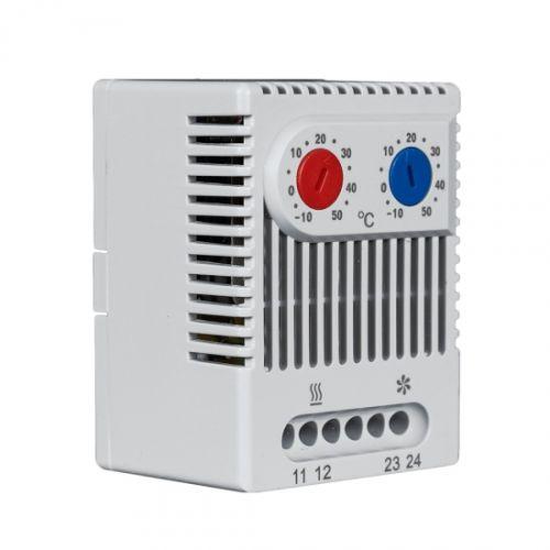Термостат MASTERMANN ZR-011 используется в цепях управления для одновременного регулирования работы обогревателя и вентилятора